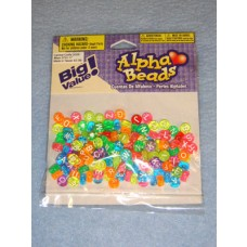 Multi Neon Trans Alpha Beads 7mm Round 160 pcs