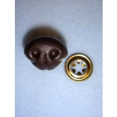 Nose - Bear - 15mm Brown Pkg_10