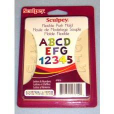 Sculpey Flexible Push Mold - Letters & Numbers