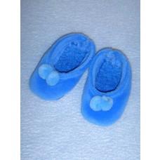 """Slipper - 2 7_8"""" Blue Velour"""