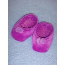"""Slipper - 2 7_8"""" Purple Velour"""