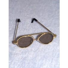 "Sunglasses - Aviator - 3"" Gold"