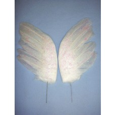"|White Feather Wings - 6 1/2"" 2 pcs"