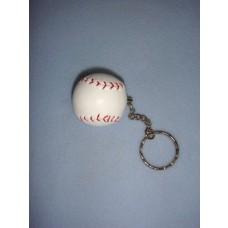 "|1 1/2"" Baseball Keychain"