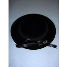 "|Hat - Classic Flocked - 6 1_2"" Black"