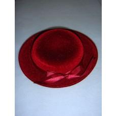 "|Hat - Classic Flocked - 6 1_2"" Burgundy"