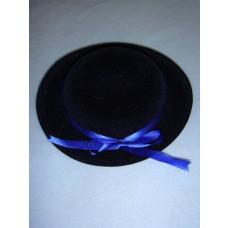 "|Hat - Classic Flocked - 6 1_2"" Dark Blue"