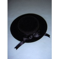 "|Hat - Classic Flocked - 6"" Black"