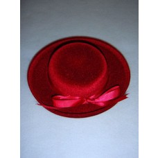 "|Hat - Classic Flocked - 6"" Burgundy"