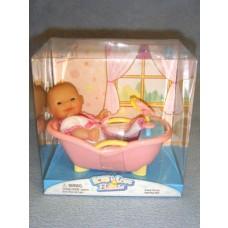 |Mini Nursery Doll w/Bathtub