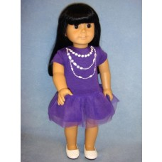 "|Purple Casual Dress for 18"" Doll"