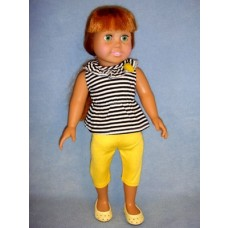 "|Striped Tank w/Yellow Leggings for 18"" Doll"
