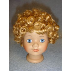 "|Wig - All-Over Curls/Clown - 6-7"" Blond"