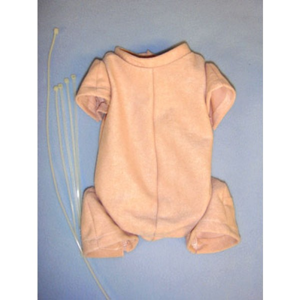 """18-20"""" Pre-Sewn Suede Jointed Newborn Doll Body"""