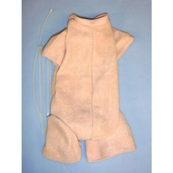 """20-24"""" Pre-Sewn Suede Jointed Newborn Doll Body"""