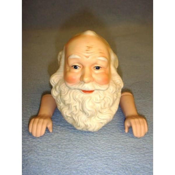 "3 3_4"" Porcelain Happy Santa w_hands"