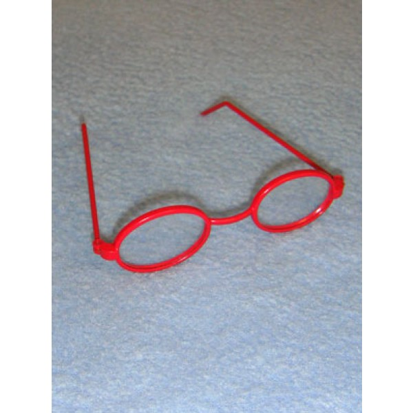 """Glasses - Oval - 3"""" Red"""