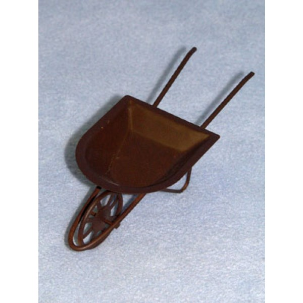 "6"" Rusty Tin Wheelbarrow"