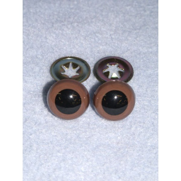 Animal Eye - w_Metal - 10mm Brown Pkg_6
