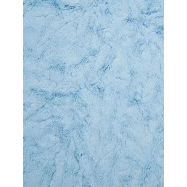 Baby Blue Soft Cuddle Crush Fabric - 1 Yd