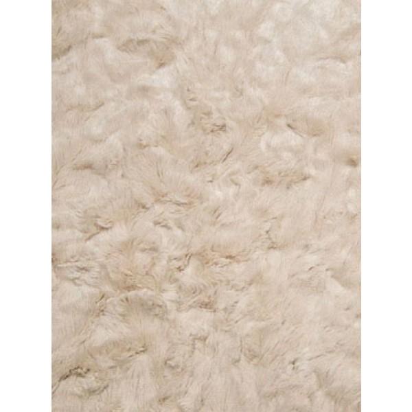 Beige Soft Cuddle Crush Fabric - 1 Yd