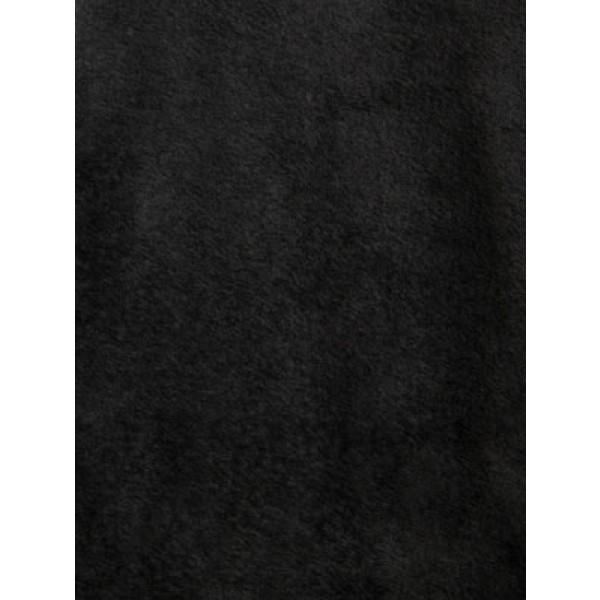 Black Sable Fur Fabric - 1 Yd
