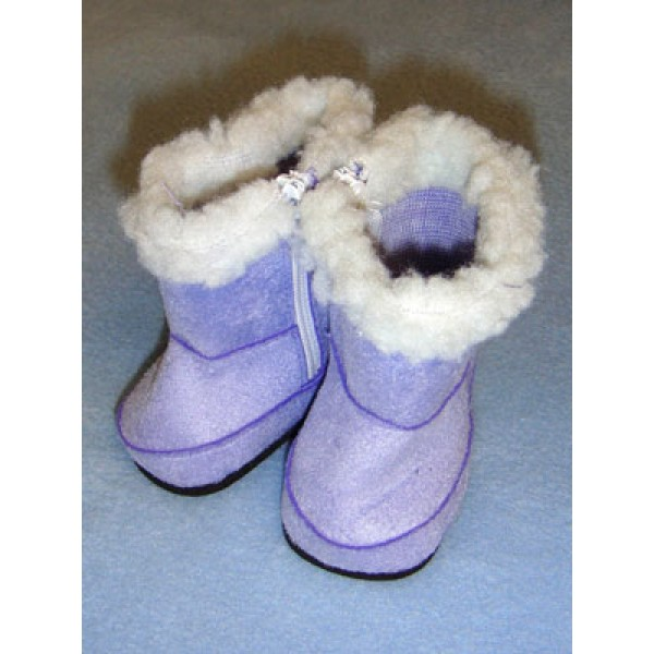 "Boot - 2 3_4"" Purple Suede w_Sherpa Trim"