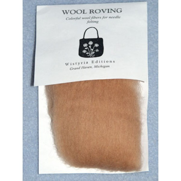 "Camel  Wool Roving for Needlefelting - 12"""