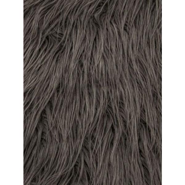 Charcoal Mongolian Fur - 1 Yd