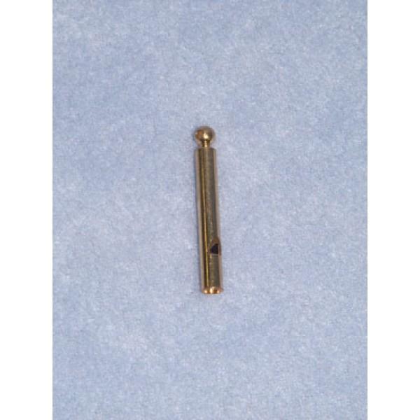 "Charm-Gold Thin Whistle-1 1_2"" Pkg_12"