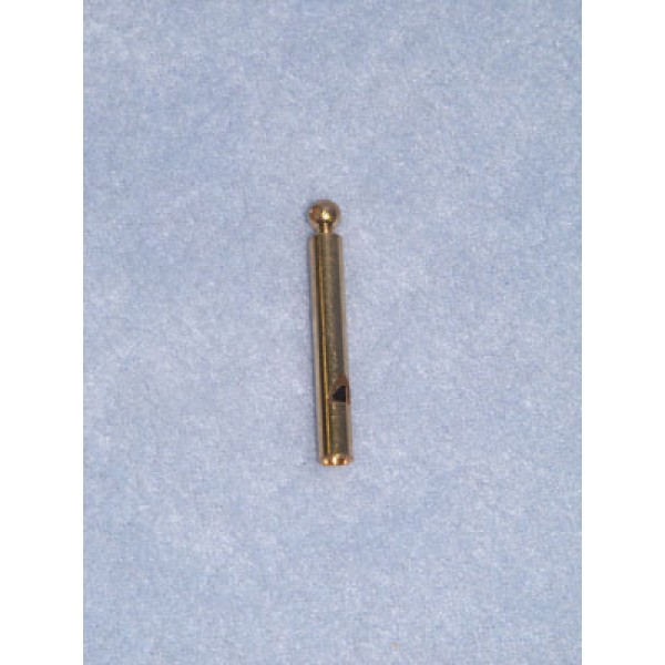 """Charm-Gold Thin Whistle-1 1_2"""""""