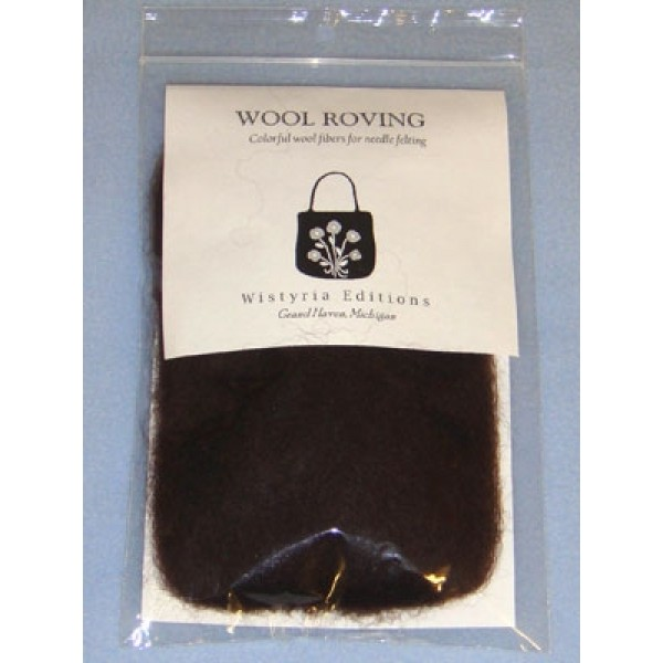 Chocolate Wool Roving