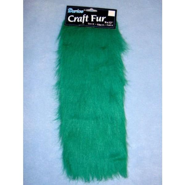 "Craft Fur - Green 9"" x 12"