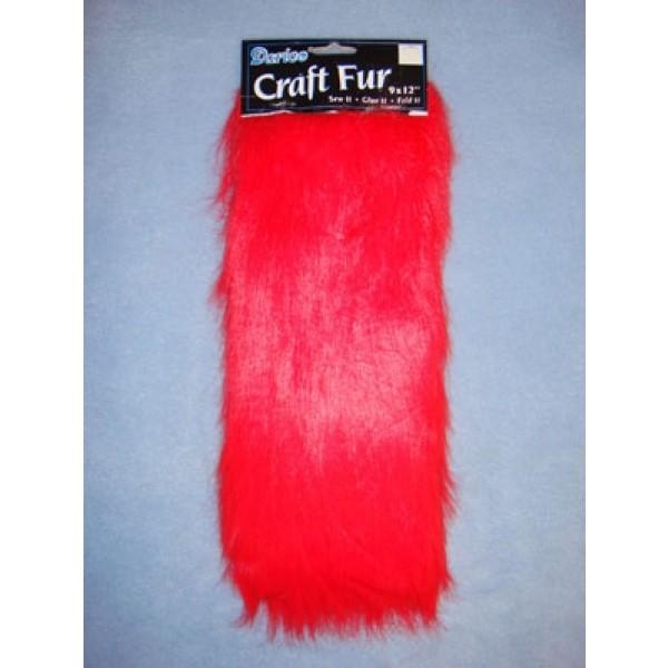 "Craft Fur - Red 9"" x 12"""