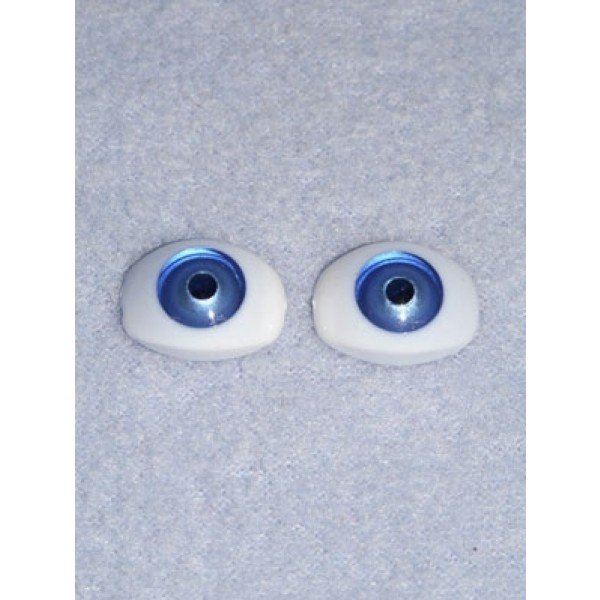 Doll Eye - 6.5mm Blue Flat Back 4 pr