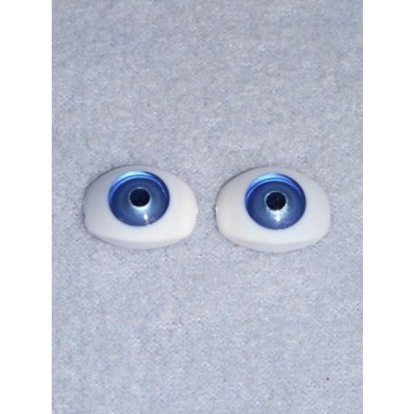 Doll Eye - 7mm Blue Flat Back 4 pr