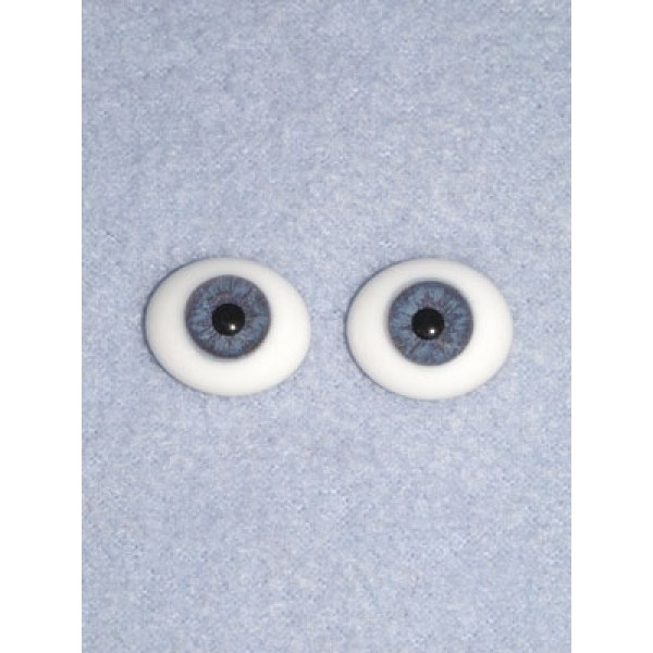 Doll Eye - Flat Back Glass - 20mm Blue