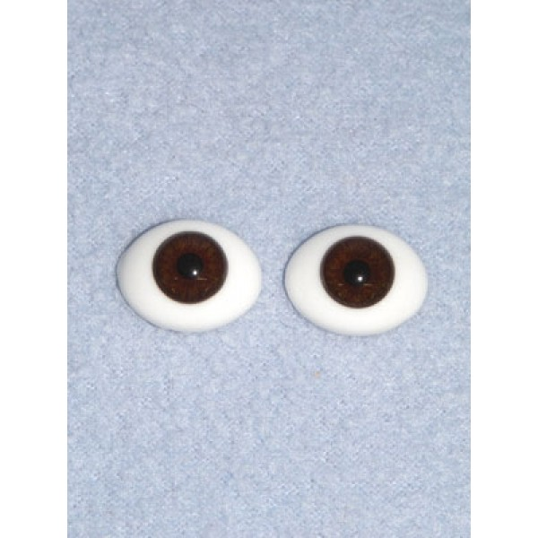 Doll Eye - Flat Back Glass - 6mm Brown