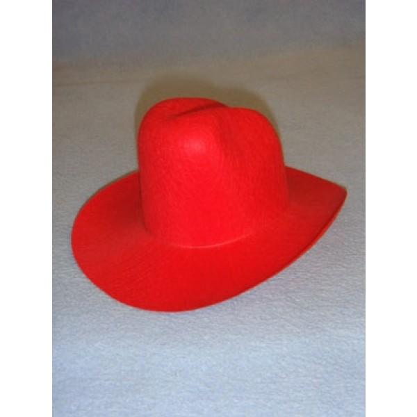"Felt Cowboy Hat - Red - 7 3_4"""