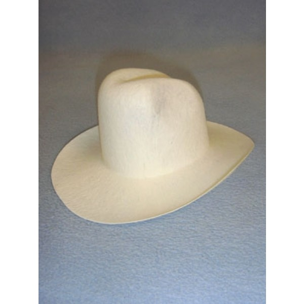 "Felt Cowboy Hat - White - 7 3_4"""