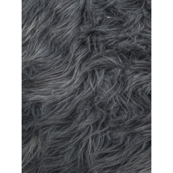 Gray Luxury Shag Fur - 1 Yd