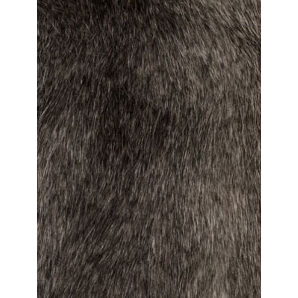 Grey Fox Fur Fabric - 1 Yd