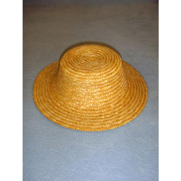 "Hat - Flat Top Straw - 9"" Natural"