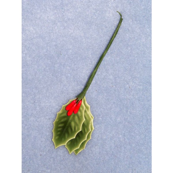 """Holly Leaves - 3_4"""" Lacquered Pk_12"""