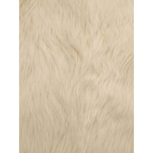 Ivory Luxury Shag Fur - 1 Yd