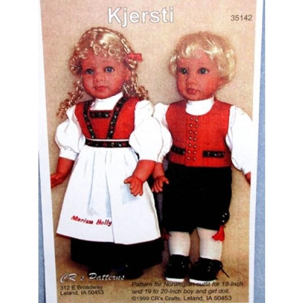 """Kit - Norwegian Girl Outfit 18""""Doll"""