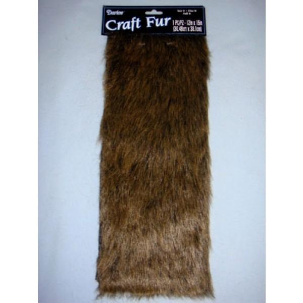 """Luxury Faux Fur - Dark Brown 12"""" x 15"""""""