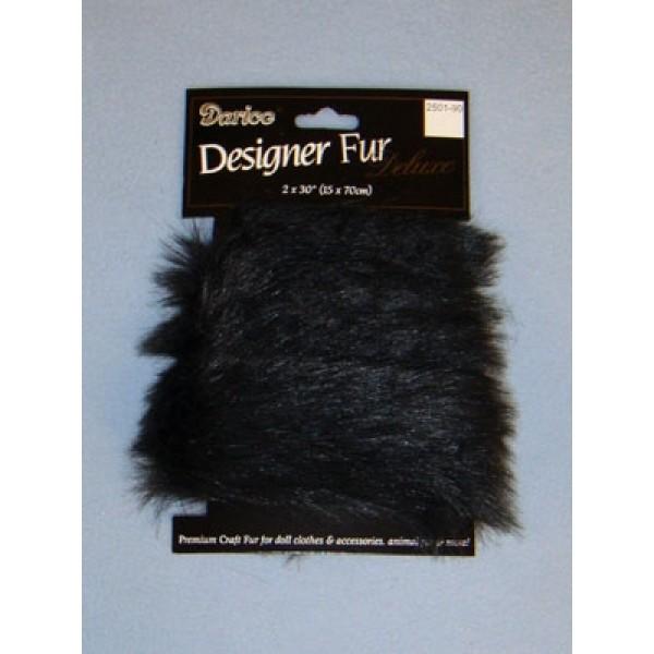 Luxury Faux Fur Trim - Black