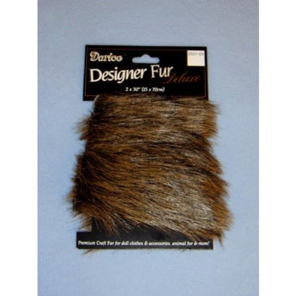 Luxury Faux Fur Trim - Dark Brown