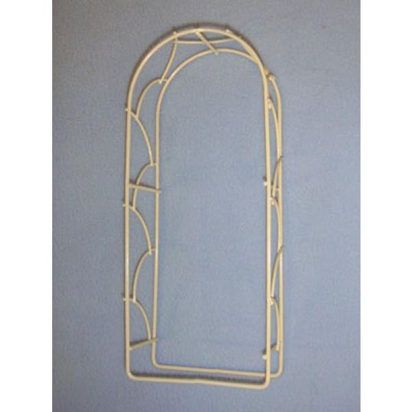 Mini Iron Fairy Garden Arch - Cream